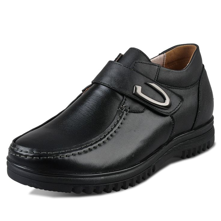 Black  elevator shoes increasing 6.5cm / 2.56inch with the SKU:MENXJD_5590-1_01 - Black Korean Height Increasing business casual shoes add taller 6.5cm / 2.56inches elegant footsteps elevator shoes