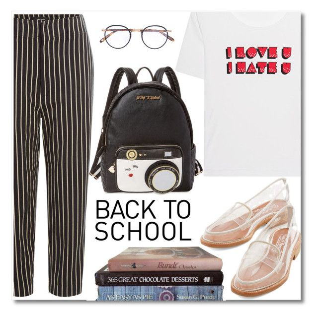 """Back To School"" by alexa-girl2 ❤ liked on Polyvore featuring AlexaChung, Isabel Marant, Garrett Leight, Betsey Johnson, Jeffrey Campbell, BackToSchool, fasion and polyvorecontest"