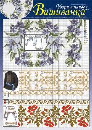 An embroidered shirt called vyshyvanka has been glorified and portrayed in various folklore genres. It is both the symbol of a Ukrainian in general and Ukraine in particular. Here are some stunning patterns for stitching such a shirt. Source: http://dianaplus.eu/cross-stitch-patterns-embroidered-shirts-issue-13717-p-6960.html