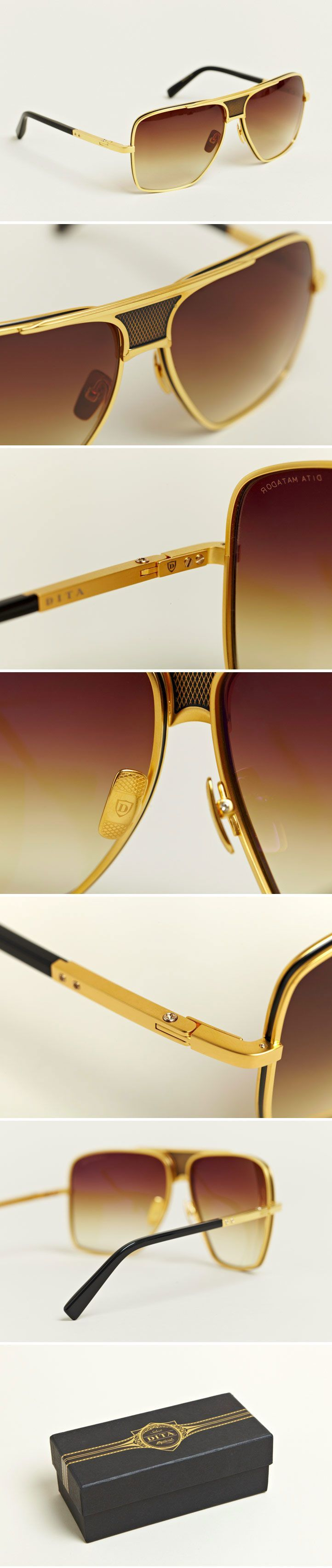 Dita - Men's Eighteen Carat Gold Matador Sunglasses - €724.00  http://www.ln-cc.com/invt/dit021014gld