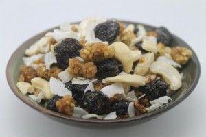 Super Snack - Raw Cashews, White Mulberries, Sweet Cherries, Sour Cherries, Yacon Root, and Coconut Ribbon.