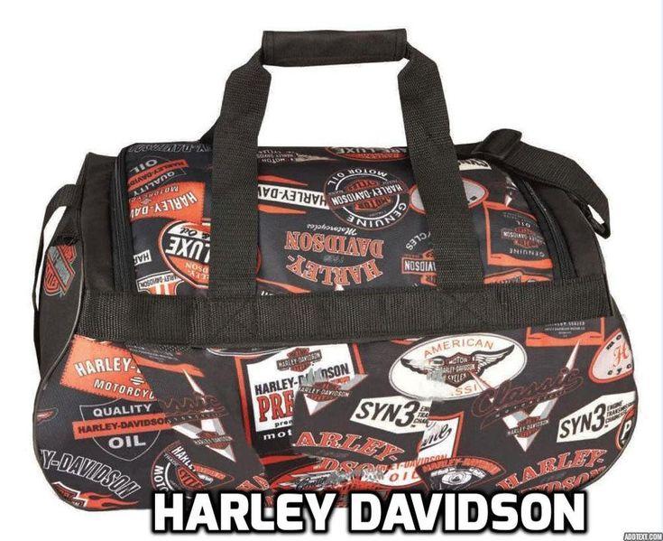 "New Harley-Davidson Logo Sport Light-Weight Duffel Bag, 20"" x 9"" x 10""   99418 #HarleyDavidson #DuffleGymBag"