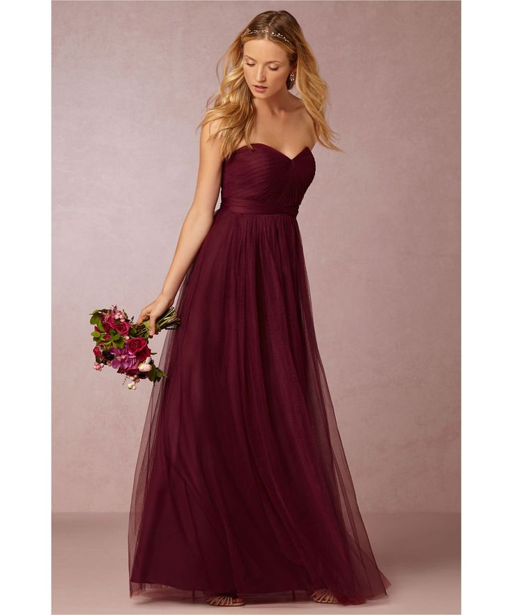 1000 Ideas About Burgundy Bridesmaid Dresses On Pinterest