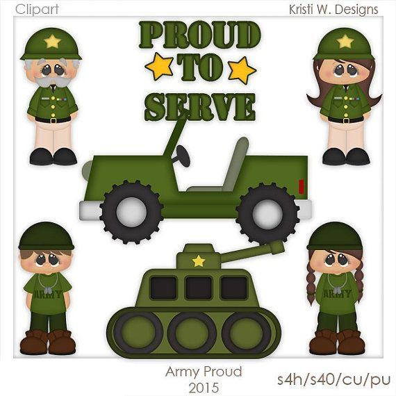 DIGITAL SCRAPBOOKING CLIPART  Army Proud by BoxerScraps on Etsy