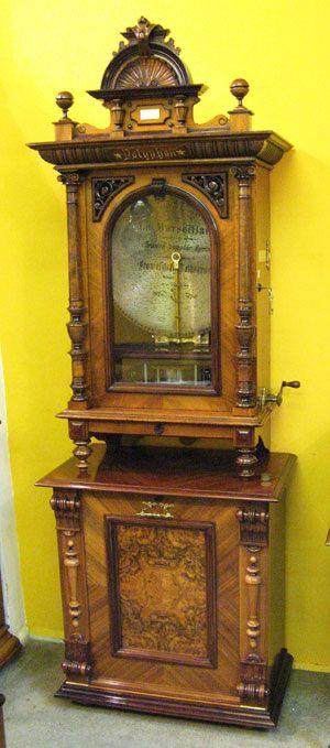 ANTIQUE music box | Polyphon upright antique disc music box