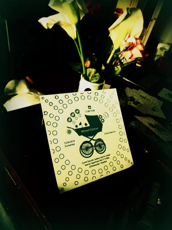 letterpress baby invitation by Yula Baski İstanbul, baby birthday invitation, baby shower, graphic design, tasarım, bebek davetiyesi, İstanbul #letterpress #istanbul #yulabaski #atölye #baski #moda #kadıköy