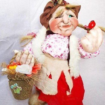 Баба Яга. Высота 45 см. #продамкуклу #купитькуклу #текстильнаякукла #кукла#сказка #подарок #дом #handmeide