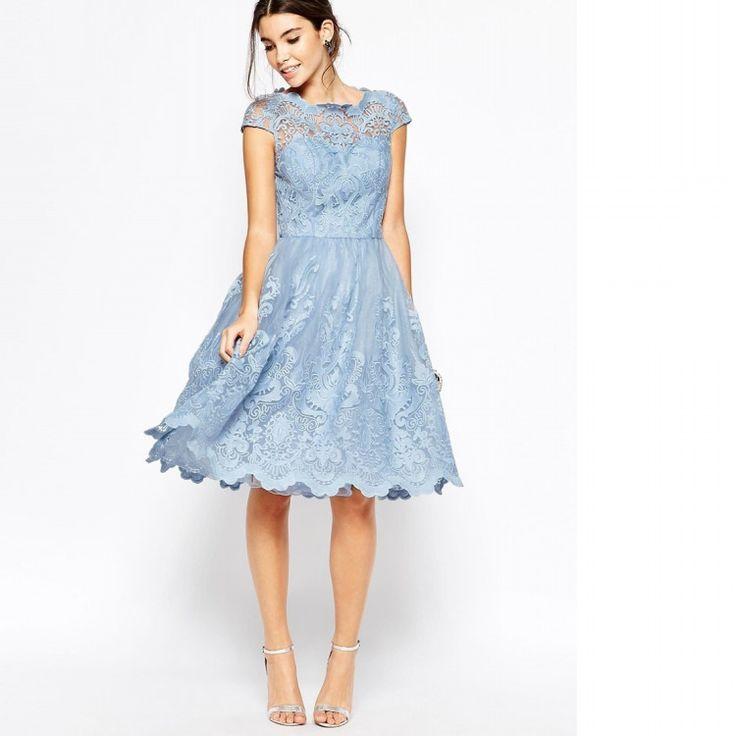 """予算は""""1万円台""""で。お呼ばれドレスはレース×膝下フレアの""""Chi Chi London""""を選択   by.S"""