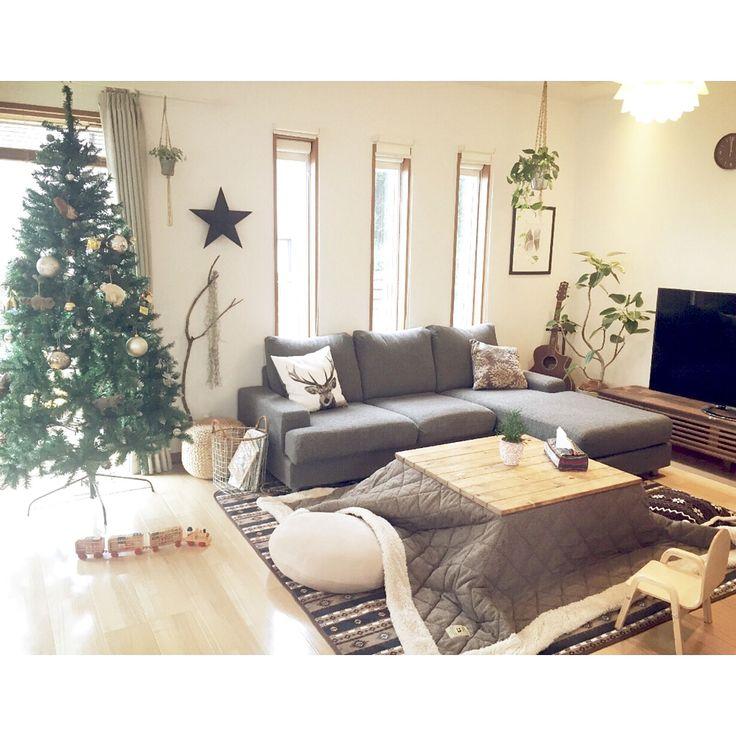 ニトリのクッションカバー/ニトリ/もちもちクッション/鹿さん/クリスマスツリー…などのインテリア実例 - 2015-11-06 15:32:22   RoomClip(ルームクリップ)