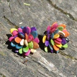 Boucles d'oreilles en graines de melon