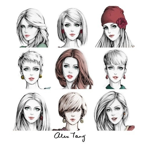 Hair Style Sketches Pinterest Hair Style Fashion Illustrations And Sketches