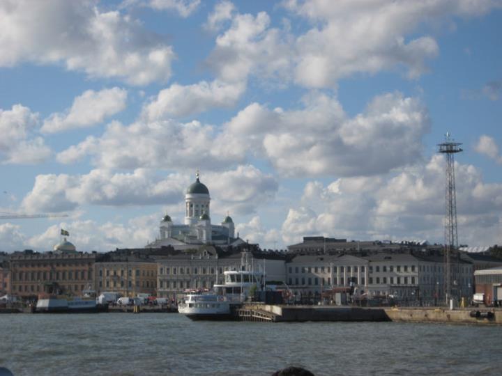 Helsinki by sea.