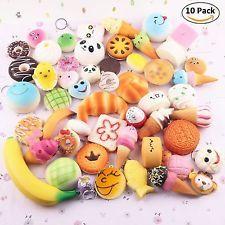squishy Kawaii Squishies Cute Plush Japanese Accessories Set of 10 Kids Toy New