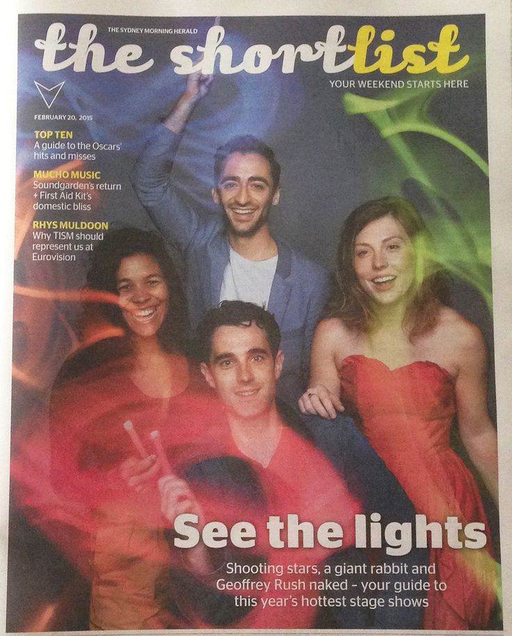 The Sydney Morning Herald, The ShortlistFebruary, 2015By Elissa Blake