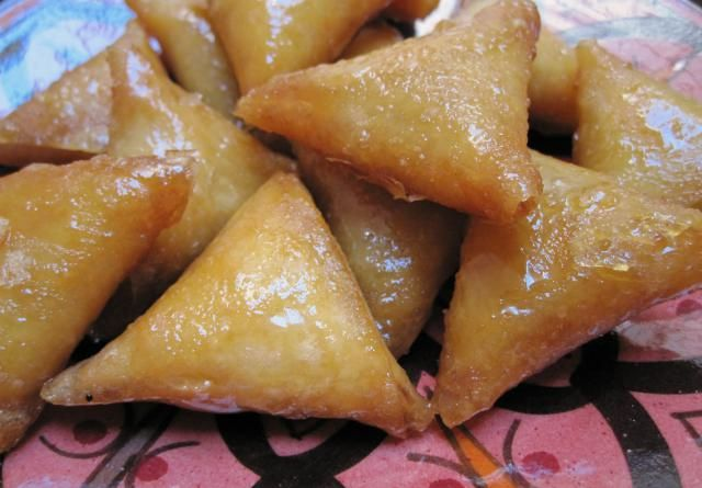 Classic Moroccan Pastries with Almond Paste Filling and Honey