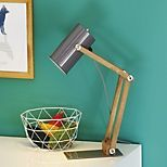 Lampe de bureau en métal et bois  - Soft - Lampes de bureau-Bureau-Par pièce-Alinéa FR - Décoration intérieur - Alinea