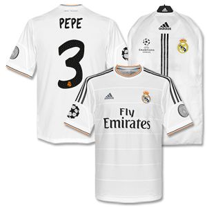 Adidas Real Madrid Home Champions League Pepe Shirt Real Madrid Home Champions League Pepe Shirt 2013 2014 http://www.comparestoreprices.co.uk/football-shirts/adidas-real-madrid-home-champions-league-pepe-shirt.asp