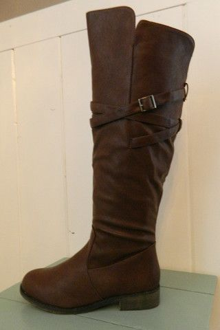 Strappy Riding Boot - http://busybellaboutique.com/collections/shoes/products/strappy-riding-boot