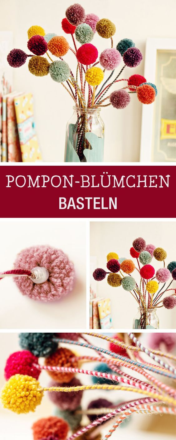 die besten 17 ideen zu bommel blumen auf pinterest seidenpapierprojekte h ngende pompons und. Black Bedroom Furniture Sets. Home Design Ideas