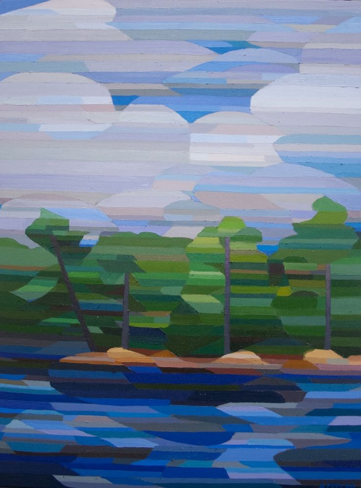 Georgian Bay Summer Andrew Peycha 48 x 36 | Oil on canvas  TL Norris Art Gallery | Greenville, SC