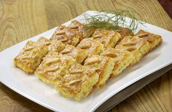 Sýrové sušenky s mandlí