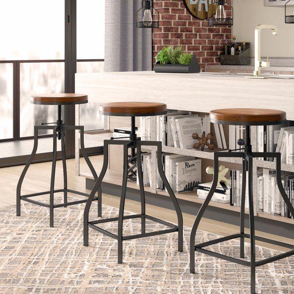 Wisbech Adjustable Height Swivel Bar Stool In 2020 Swivel Bar