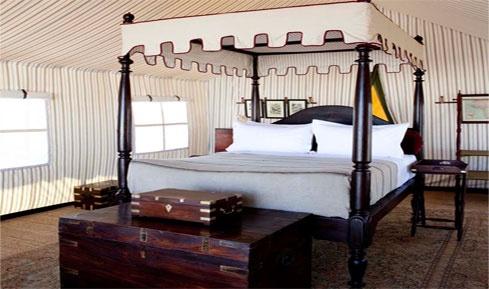 San Camp in the Makgadikgadi Salt Pans, Botswana