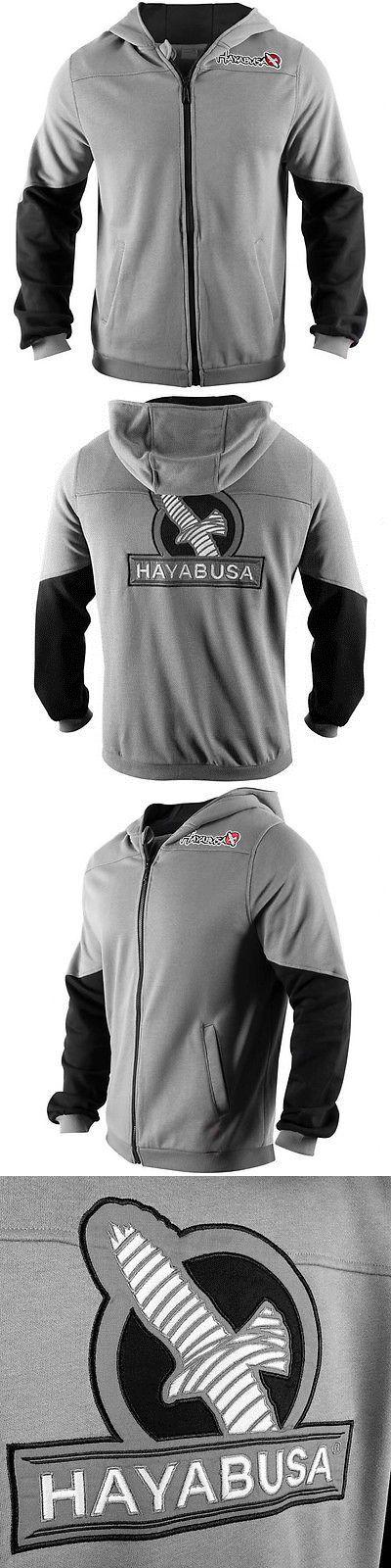 Hoodies and Sweatshirts 179770: Hayabusa Wingback Classic Fit Zip-Up Hoodie - Gray/Black-Boxing Mma Sweatshirt BUY IT NOW ONLY: $79.99
