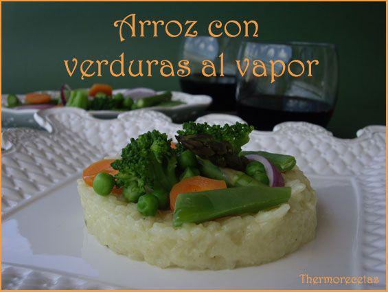 Receta de arroz con verduras al vapor hecha con la Thermomix #arroz #recetas #thermomix