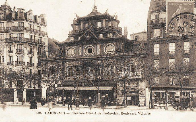 """boulevard Voltaire - Paris 11ème Le """"Théâtre-Concert de Ba-ta-clan"""", boulevard Voltaire, version 1900."""