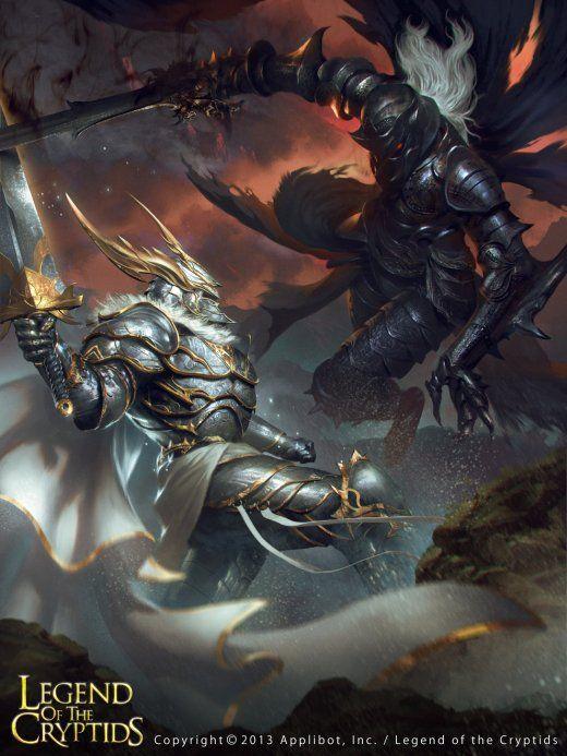 As ilustrações de fantasia para o card game Legend of the Cryptids de Lius Lasahido