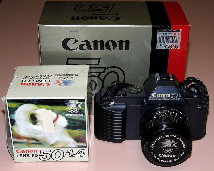 Vintage Canon T50 35mm SLR Film Cameras, Made In Japan, Official 35mm Camera Of The 1984 Olympic Games.