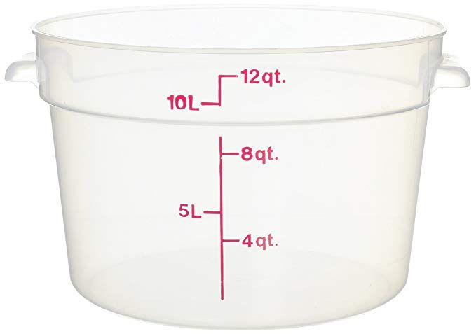 Cambro Camware Translucent Round Food Storage Containers 12 Quart Rfs12pp Category Food Storage Rou Food Storage Containers Food Storage Storage Containers