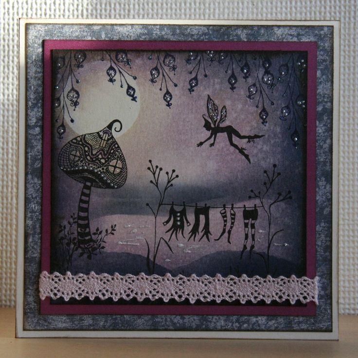 Handmade by Ann Baird. Lavinia Stamps + Distress Inks.