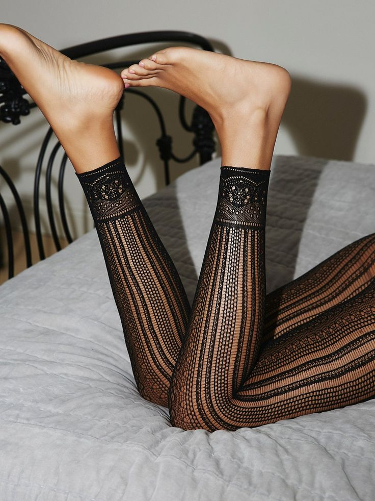Black Magic Footless Tights | Pretty stretch tights with a unique woven pattern throughout and footless, cropped design.