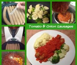 Recipe Tomato and Onion Sausages by mummyof3 - Recipe of category Main dishes - meat