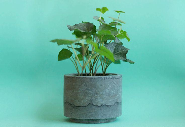 Flowerpot – Grey Swedish Limestone