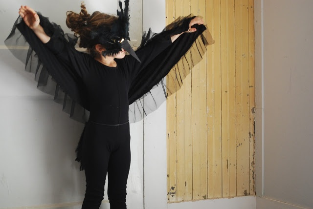 crow costume....Just finished my daughters and it looks so good:) Im going to be the scarecrow lol