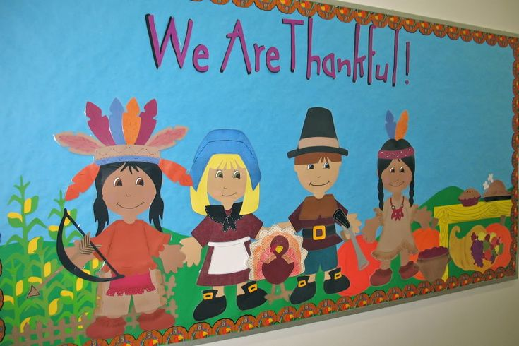 Thanksgiving bulletin board. Definitely would take some time, but it is absolutely adorable!!