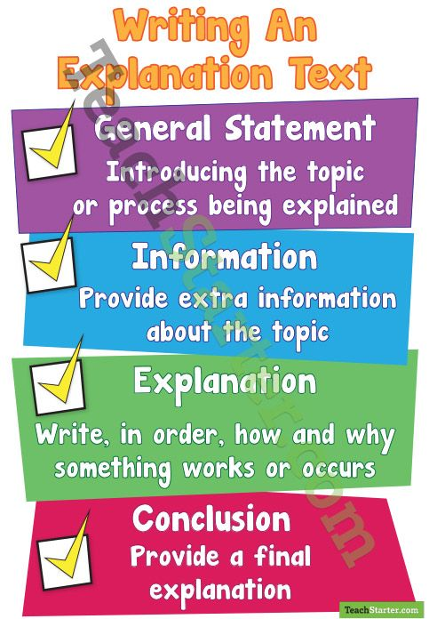 Writing An Explanation Text Poster | Teaching Resources - Teach Starter