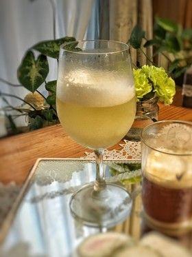 シャンパン風♪ふわとろジャスミン茶ゼリー