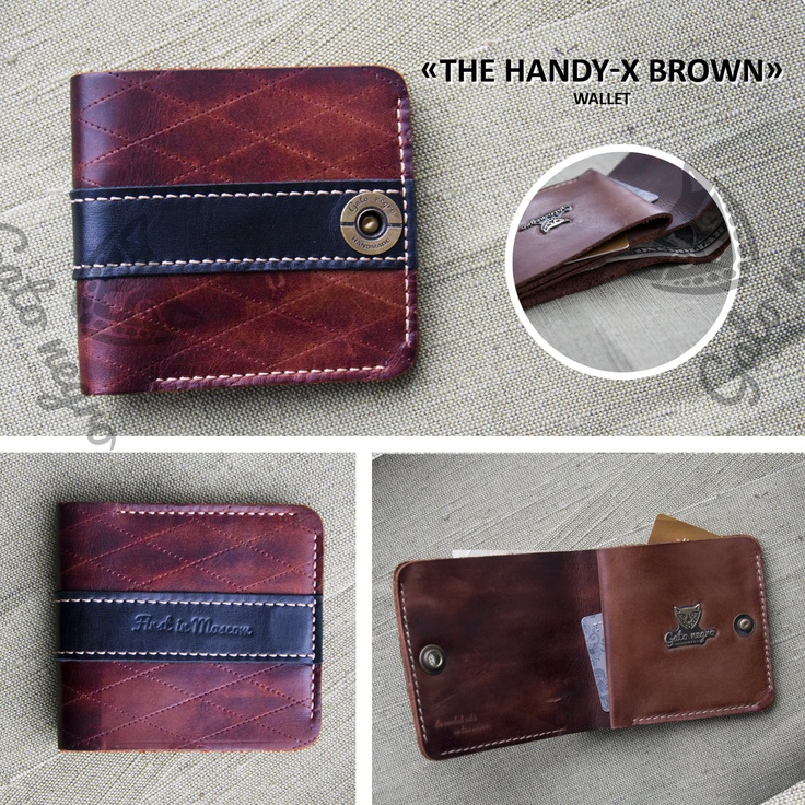 The Handy-p-x brown, leather walet