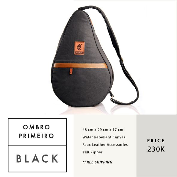 OMBRO PRIMEIRO BLACK  IDR 230.000  FREE SHIPPING ALL OVER INDONESIA    Dimension: 48 cm x 29 cm x 17 cm 23 Litre   Material: High Quality Canvas WR Faux Leather Accessories Leather Accessories YKK Zipper  #GoodChoiceforGoodLooking