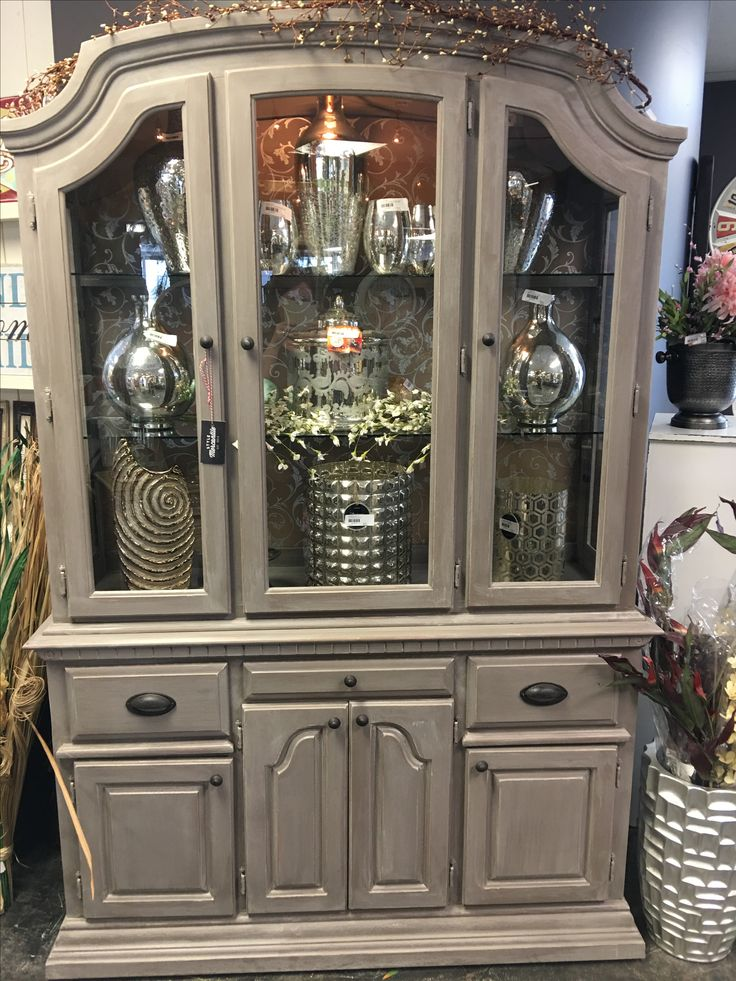 80s china cabinet turned incredible!