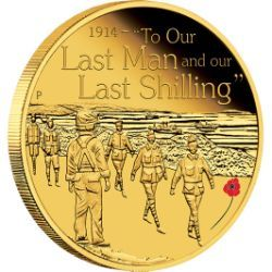The ANZAC Spirit – To Our Last Man 2014 1/4oz Gold Proof Coin.