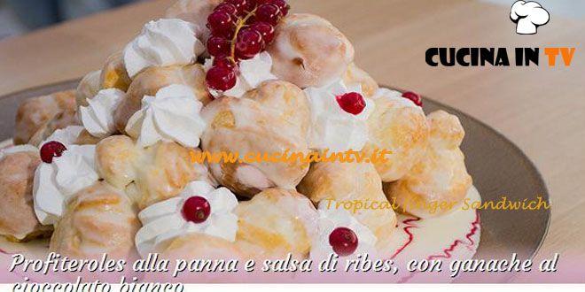Profiteroles alla panna e salsa di ribes con ganache al cioccolato bianco ricetta Roberta da Bake Off Italia | Cucina in tv