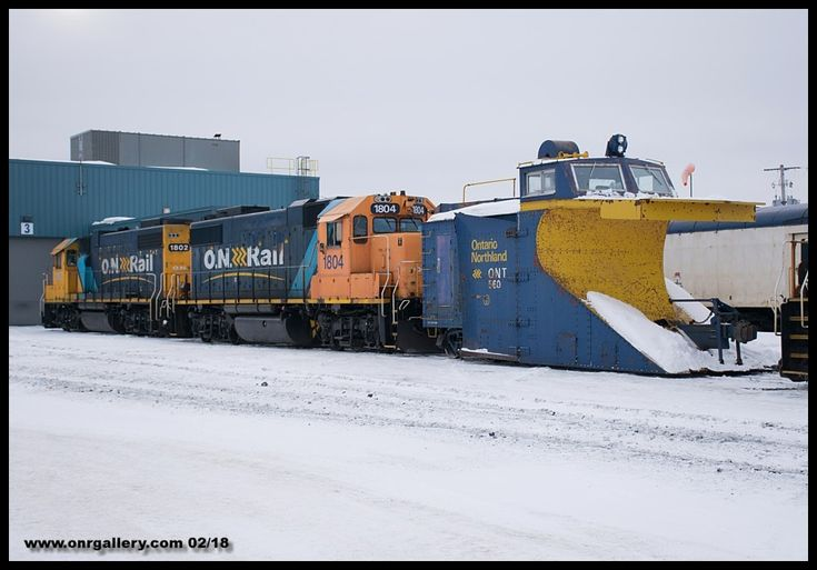 A shot of Plow Work 1804 captured at Cochrane Shops Feb. 17th