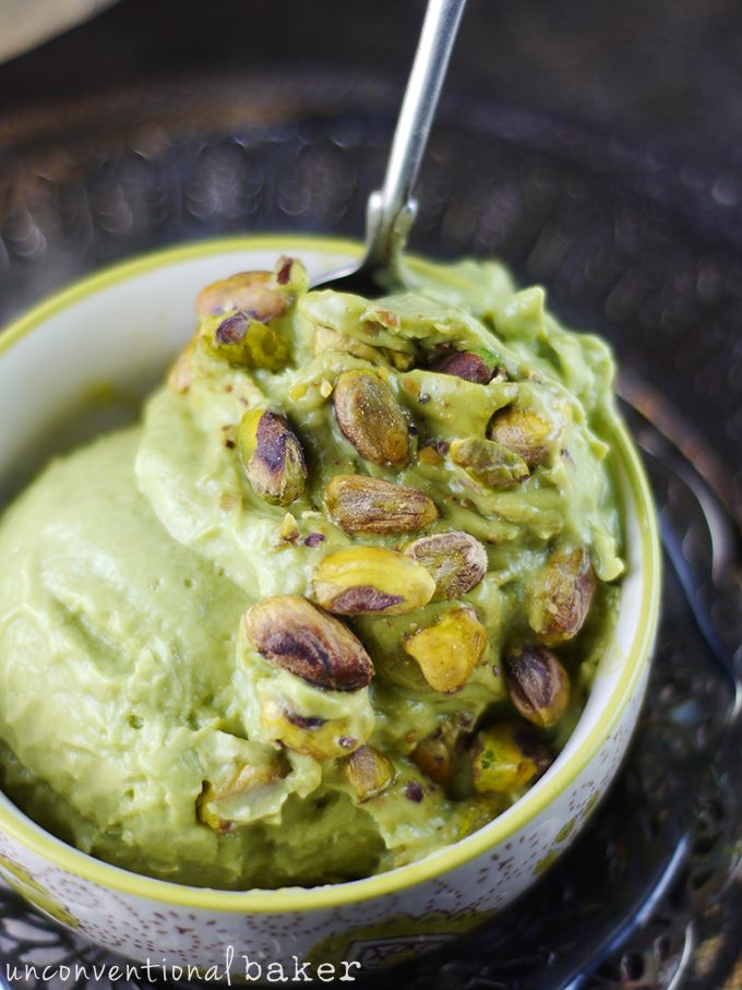 Dairy Free Pistachio Ice Cream | Another awesome thing about this recipe is that it's made without an ice cream maker — in fact there's no churning involved whatsoever  @audreysnowe
