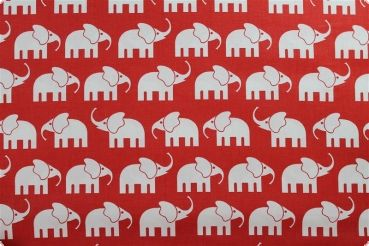 Baumwolldruck mit Elefanten