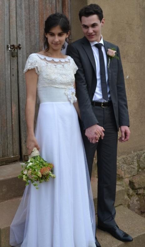 Dimity EcoBride gown  Jeannine Stegen  Protea crochet lace and vintage veiling #EcoBride